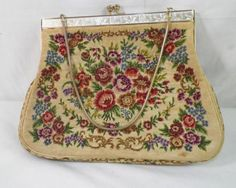 shopgoodwill.com: Vintage Crocheted Floral Clamshell Purse  Sold for $8.99
