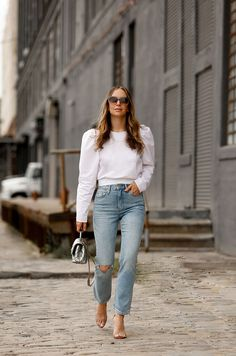 Brooklyn Blonde, Simple Summer Outfits, Fall Winter Outfits, Casual Summer, Summer Fashion Outfits, Spring Summer Fashion, Autumn Fashion, Vintage Outfits For Teens, H&m Jeans