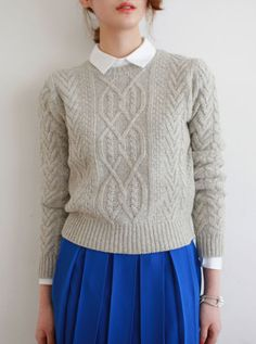 Cable knit sweater - Twang