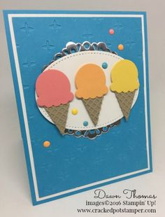 DOSstamperSTARS Thursday Challenge #229-Cool Treats Bundle card created by Dawn Thomas #crackedpotstamper