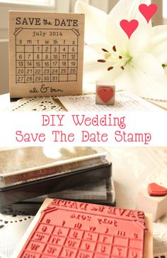 DIY Save The Date - Stamp - idea