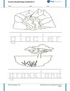 What Glaciers Leave Behind | Reading comprehension worksheets and ...