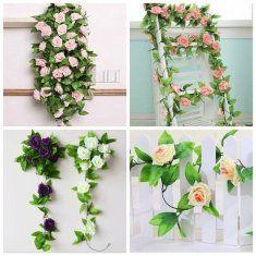 7 cores simulação flor do rattan artificial rosa glicínias casa decoração de festa de casamento
