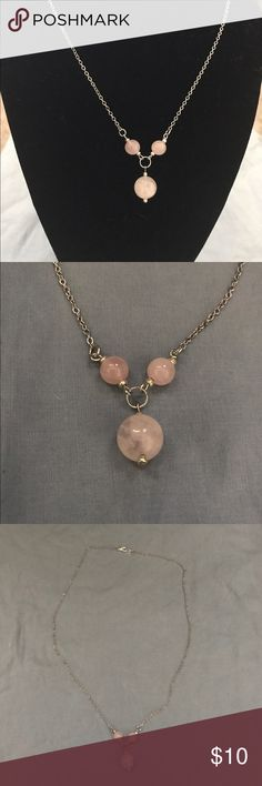 Delicate Handmade Necklace - Silver & Pink Gorgeous handmade necklace with pink and silver y-shape necklace. This necklace measures 20 inches and the y-shaped part is 1 1/2 inches. Make an offer today! Sidlee Jewelry Jewelry Necklaces
