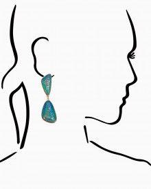 Dancing Foil Earrings