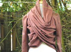 The Meditation Wrap in organic hemp jersey. Made to order