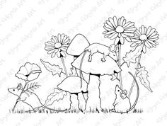 Coloring for Adults Printable Art to Color by FreshAirPrintables