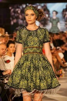 True Blue by Jana Gavalcova/ beautifull green summer dress / Slovak Folk fashion / JG custom shop Green Summer Dresses, Folk Fashion, Blue, Vintage, Shopping, Style, Primitive