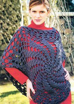 (4) Name: 'Crocheting : crochet top poncho