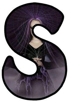 Gothic Art, Gothic Beauty, Gothic Fashion, Alphabet, Dark, Style, Gypsy Soul, Letters, Kunst