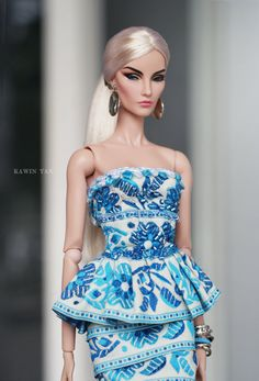 Porcelain beauty dress for Fashion Royalty (FR2), Silkstone Barbie