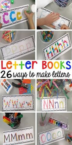 Writing letters - 26 different ways to write letters. Make letter writing (and handwriting) fun and interactive for your preschool, pre-k, & kindergarten students. Preschool Letters, Letter C Activities, Writing Center Preschool, Preschool Literacy Activities, Letter K Crafts, Letter Identification Activities, Name Activities Preschool, Writing Activities For Preschoolers, Letter D