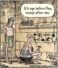 Bizarro Comic, Grammar Jokes, Grammar Lessons, Grammar School, Funny Quotes, Funny Memes, Hilarious, Jokes Quotes, Online Comics