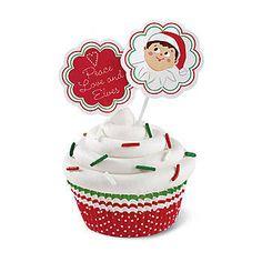 Elf on the shelf cupcake kit