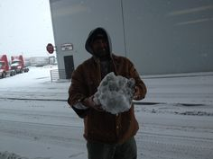 Steve's giant snow ball