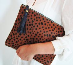 YSL Animal-print calf hair clutch | Accessories Are A Girls Best ...