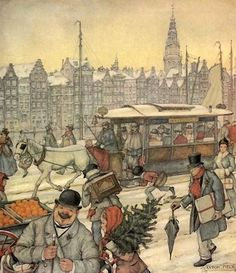 Anton Pieck was a Dutch painter and graphic artist. The work of Anton Pieck contains paintings in oil and watercolour, etchings. Anton Pieck, Illustration Noel, Cityscape Art, Dutch Painters, Dutch Artists, Arabian Nights, Christmas Art, Magical Christmas, Christmas Pictures