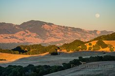 A 'super-moon' (June, 2013) Full moon rising over Mount Diablo and the hills of Briones Regional Park, Contra Costa County, California