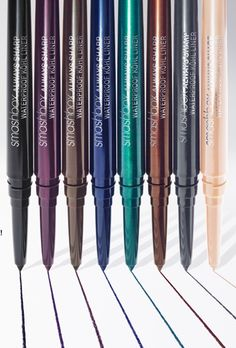 Smashbox Always Sharp Waterproof Kohl Eyeliner for Fall 2013. Any eyeliner I wear MUST be waterproof. Otherwise it will last about an hour and a half and then be smeared all under my eyes. These colors look perfect for fall!