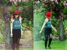 Asos Red Hat, Urban Outfitters Embroidered Shirt