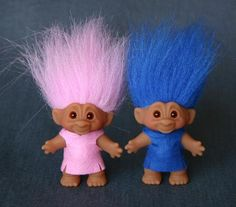 Troll dolls were my favorite fantasy play toy!   used to create make-believe-lands beneath the trees where they could hang out.