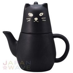 sunart Tea for one: Unique black cat design ceramic tea pot set for one is great for anybody looking to brighten up their kitchen or take a relaxing break! It comes with a small ceramic cup, as well as a strainer inside! Cat Lover Gifts, Cat Gifts, Cat Lovers, Tea Pot Set, Pot Sets, Crazy Cat Lady, Crazy Cats, Tea For One, Sun Art