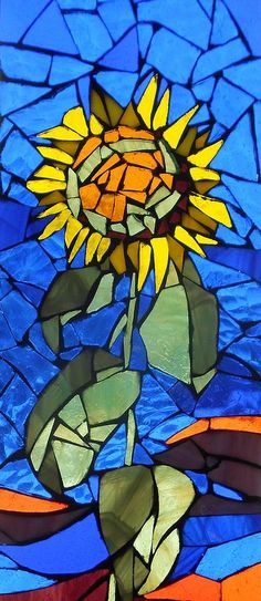 Mosaic Stained Glass - Sunflower Glass Art