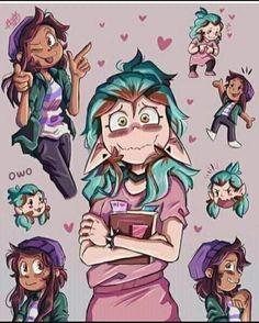 Disney Drawings, Cute Drawings, Yuri Comics, Owl Box, Art Jokes, A Hat In Time, Lesbian Art, Cartoon Crossovers, Baby Owls