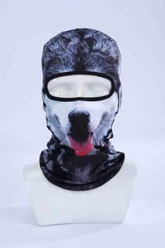 Sabre Tooth Tiger High Quality Materials Sports Accessories 3d Animal Outdoor Party Cycling Ski Hat Balaclava Motorcycle Full Face Mask Cap