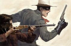 Cover image for a collection of new short stories of the Lone Ranger and Tonto. Oil on illustration board, The Lone Ranger and Tonto Western Film, Western Art, Western Theme, Tarzan, Livingston, Comic Books Art, Comic Art, Sci Fi Comics, Western Comics