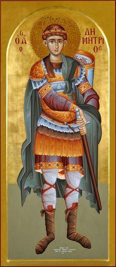 Άγιος Δημήτριος / Saint Demetrios (painted by Christos Fitzios)