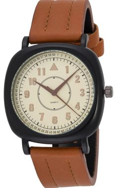 Swiscardin Men Yellow Dial Leather Band Watch - 11438Mw-G price, review and buy in UAE, Dubai, Abu Dhabi | Souq.com