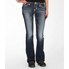 Big Star Vintage Liv Slim Boot Stretch Jean ($100) ❤ liked on Polyvore featuring jeans, blue, slim jeans, stretchy jeans, zipper jeans, stretch bootcut jeans and low rise slim bootcut jeans