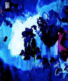 "Saatchi Online Artist: Suz Shippey Borski; Oil, 2011, Painting ""Kyoto Iris"" strong brush stroke, color"