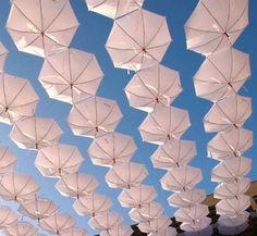 umbrellas installation
