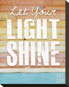 Let Your Light Shine Stretched Canvas Print by Danny Phillips at Art.co.uk