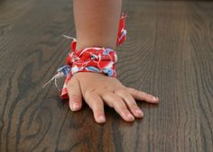 Fabric braided braclets cool idea I give to the kids in honduras jut use old tshirt