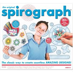 Original Spirograph Kit with Markers : Target Original Spirograph, Marker Kunst, Marker Art, Mandala, Craft Kits For Kids, Art And Craft Design, Principles Of Art, Paper Drawing, Learning