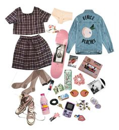 pink/? by pablos-watching on Polyvore featuring polyvore, Être Cécile, Hanky Panky, Converse, Kaleos, Marc Jacobs, Shandell's, Jane Iredale, Brandy Melville, fashion, style and clothing