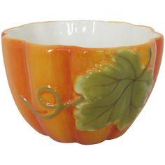 Mossy Oak Pumpkin Ramekin, Set of 6, Yellow