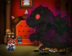 Paper Mario Color Splash - Vs. Bowser by Rotommowtom.deviantart.com on @DeviantArt