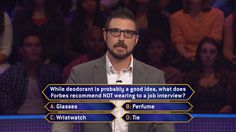 Tuesday, it's an all-new #MillionaireTV. When Abraham Thornton interviewed to play on the show, he probably didn't expect a question about interviews. Now, does he expect to give the correct #FinalAnswer? Don't miss host Terry Crews on Tuesday's show and see how Abraham responds. Go to www.millionairetv.com for local time and channel to watch!