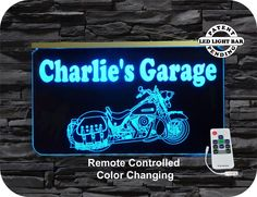 #motorcycle #led Sign #personalizedGift for that special person,. Remote controlled Multi-color changing  #uniquegifts #personalizedgift #uniqueledproducts #cleveland #lightedmancavesigns