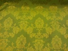 Lime Green Madagascar DAMASK heavy Upholstery brocade Vintage Curtain Furnishing Roman Blinds, Duvet covers Fabric 147CM - Per Metre