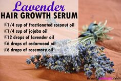 Try this Lavender Hair Growth Serum to Boost Hair Growth & Reverse Balding! - beautymunsta - free natural beauty hacks and more!