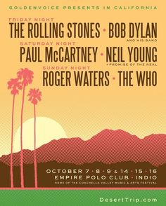 Excited to announce we'll be at @DesertTripIndio the next 2 weekends!  Will you be there? #DesertTrip