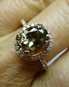 Rose Gold Halo Zultanite® Ring www.zultanite.org