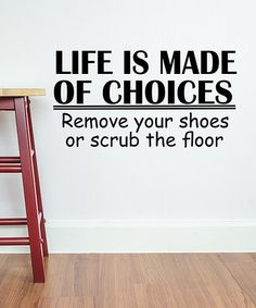 This 'Life is Made of Choices' Wall Decal is perfect! #zulilyfinds