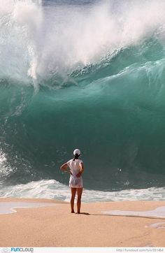 Waimea Bay, Oahu, Hawaii I have stood here with towering waves its a thrill