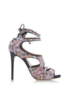 Tabitha Simmons Floral Leather Bailey Sandal